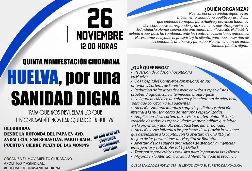 26N Sanidad Digna Huelva