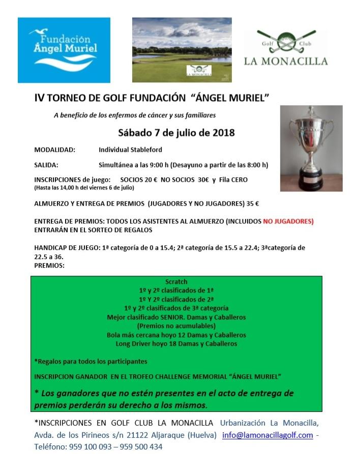 IV Torneo Golf Fundación Angel Muriel