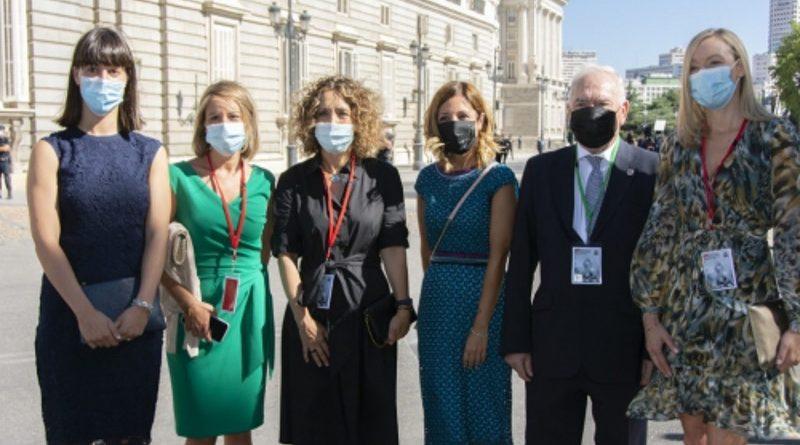 La enfermería, muy presente en el acto de Estado por las víctimas del COVID-19